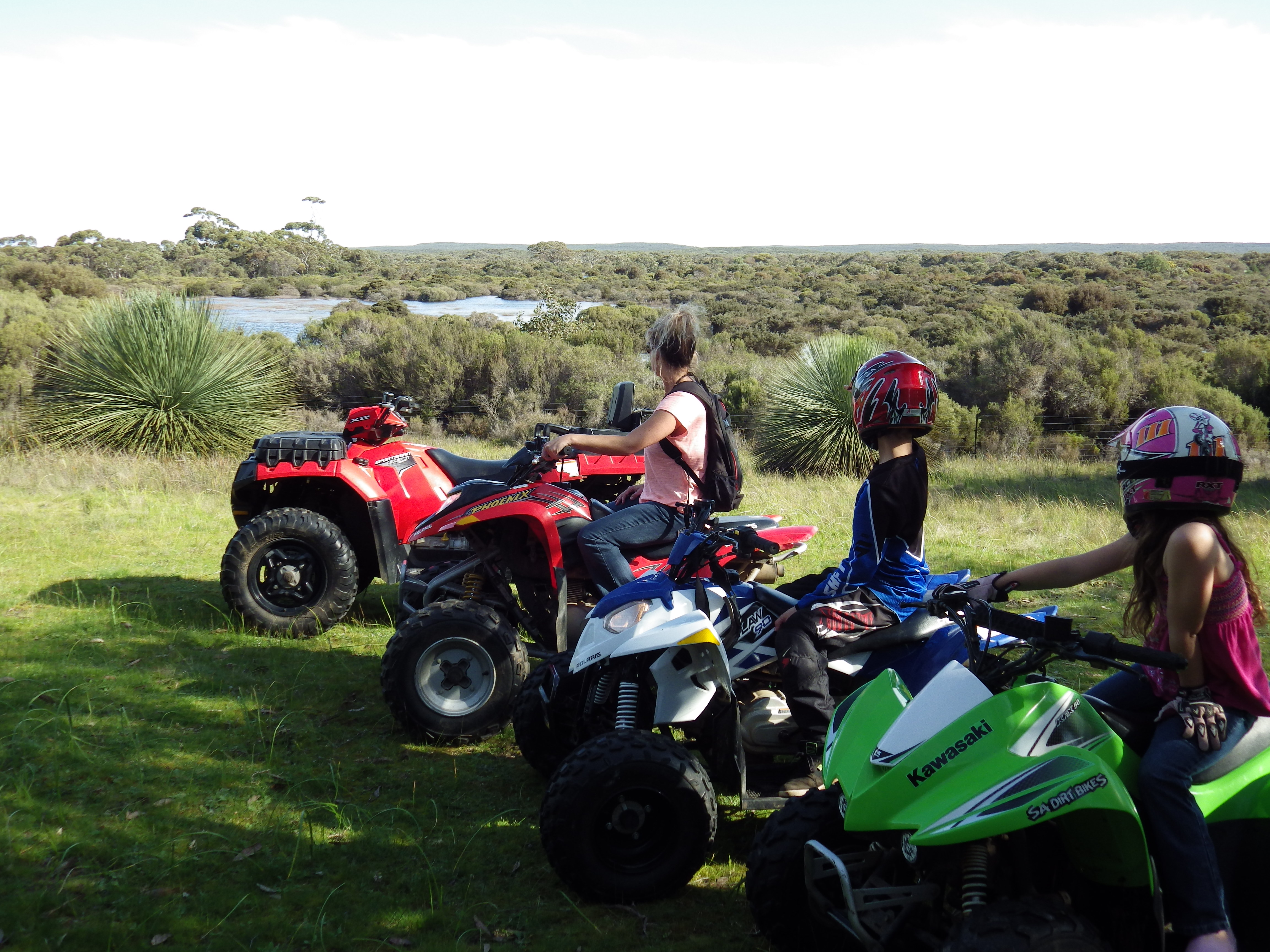 Quad Bike Tour lagoon view
