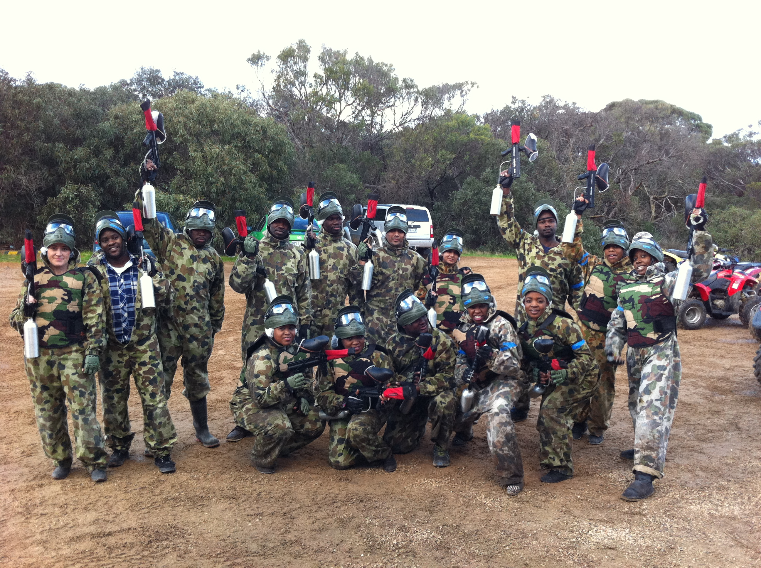 Kangaroo Island Paintball fun
