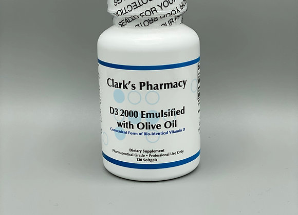 D3 2000 Emulsified with Olive Oil