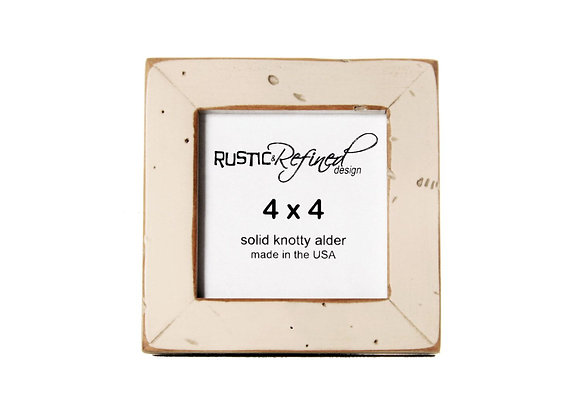 "4x4 (Rustic) Gallery 1"" picture frame - Off White"