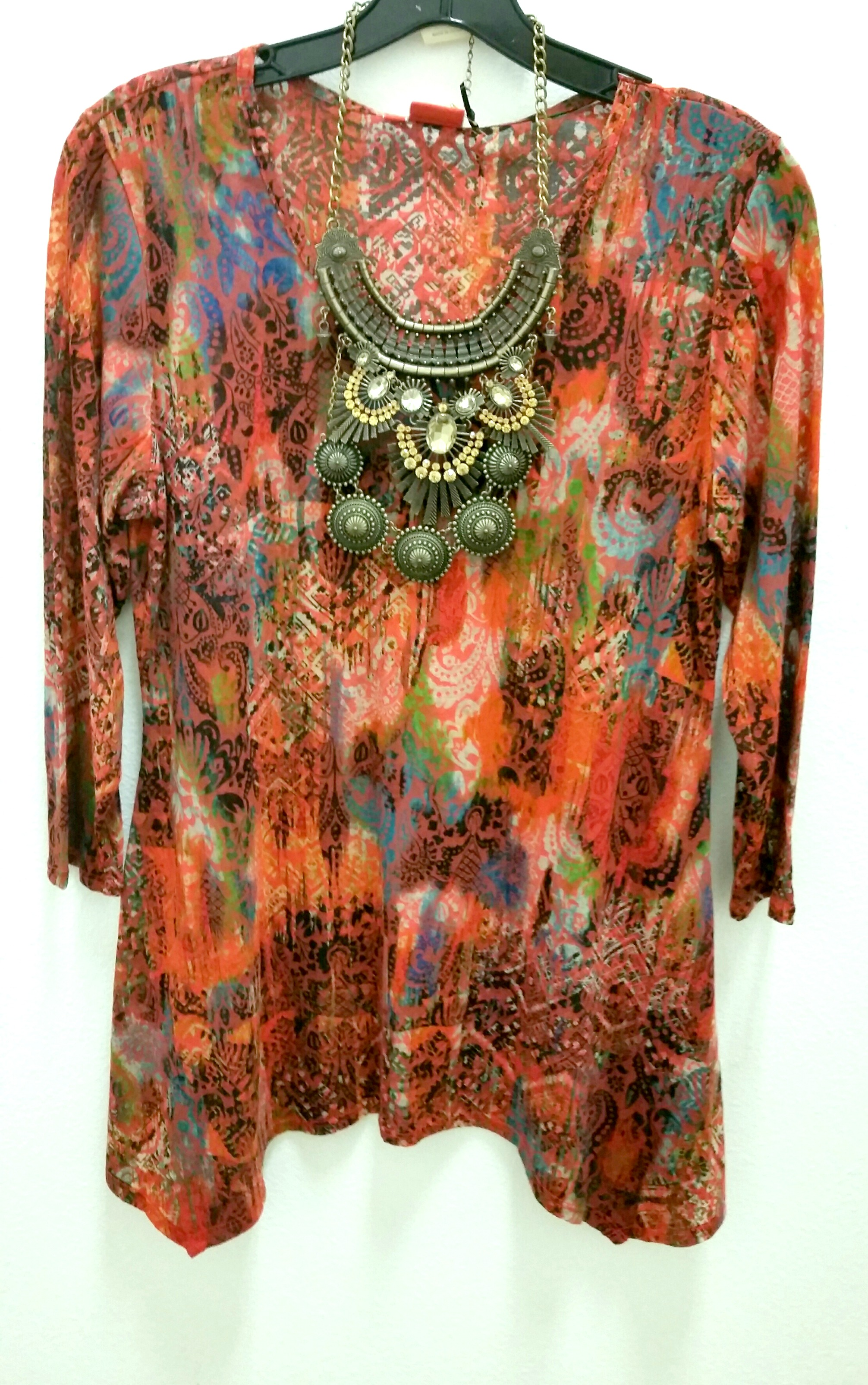 Tianello Burnout Print Top