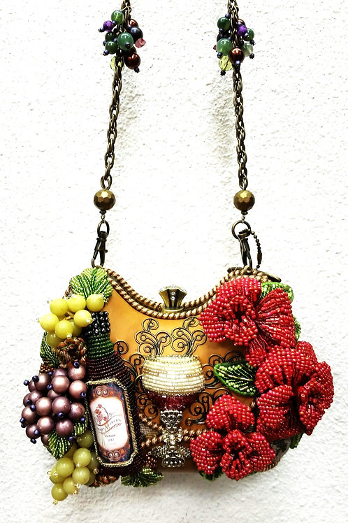 Mary Frances Handbag (Wine Lover)