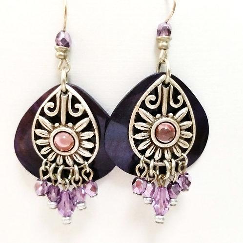 JMR Purple Beaded Earrings