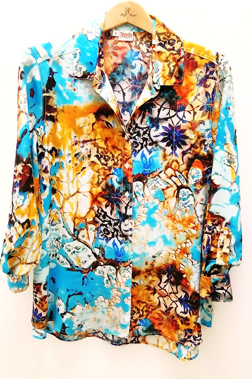 "Tianello 100% Silk Loving Blouse (""Looking Glass"")"