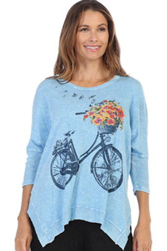 Bike Ride print top