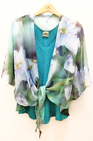 URU mixed with Silk Kimono