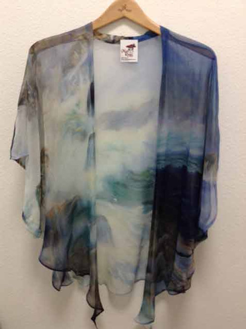 CC Wave Silk Tie Kimono