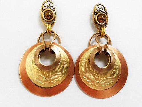 JMR Copper Circles Earrings