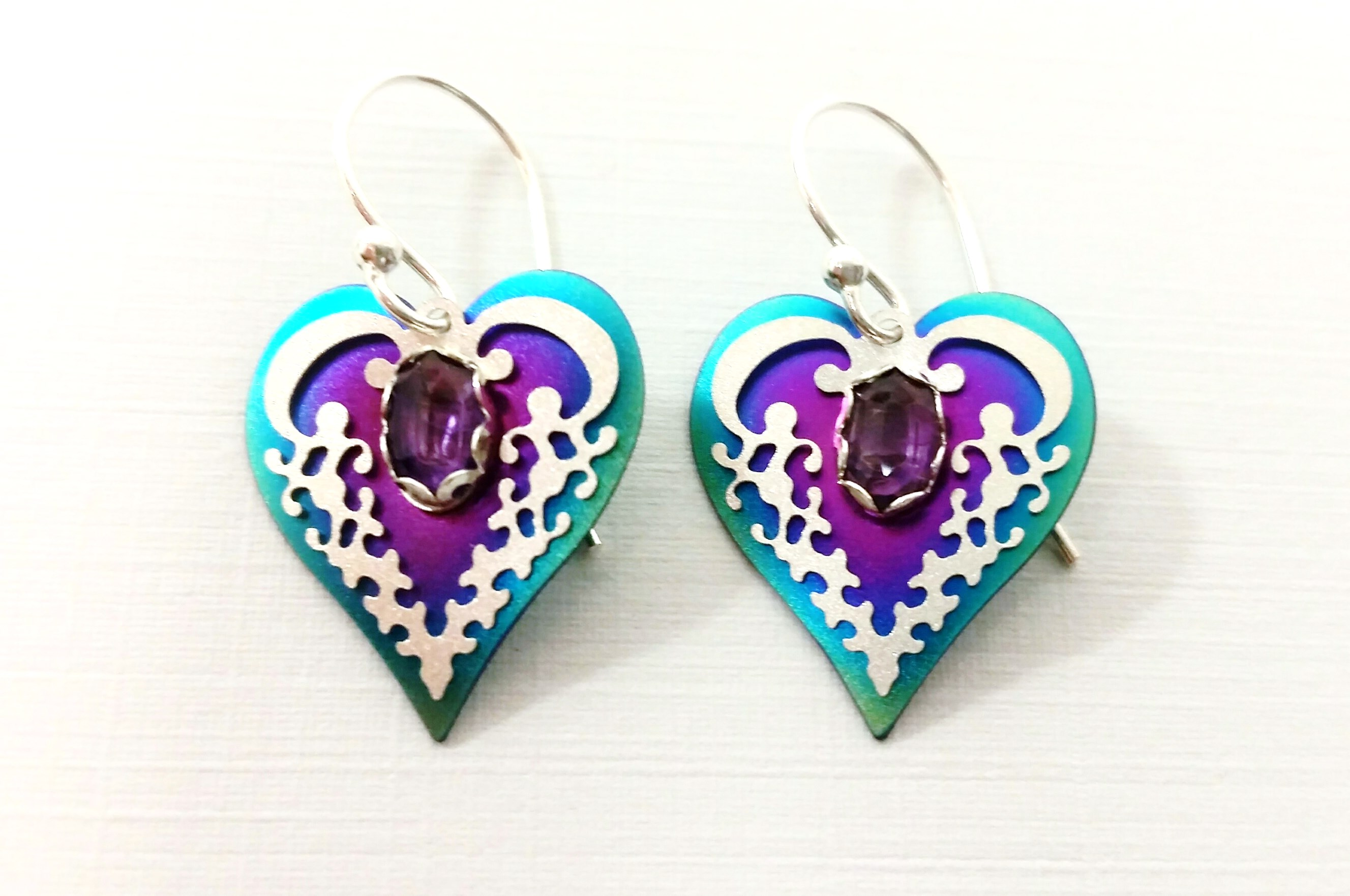 Holly Yashi Heart Earrings