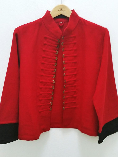 Thai Style Coin Jacket (Bright Red)