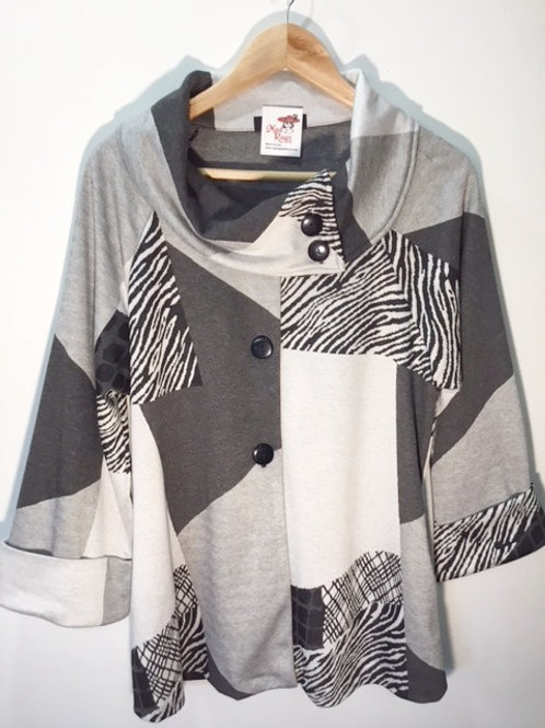 Yushi Gray Patchwork Jacket