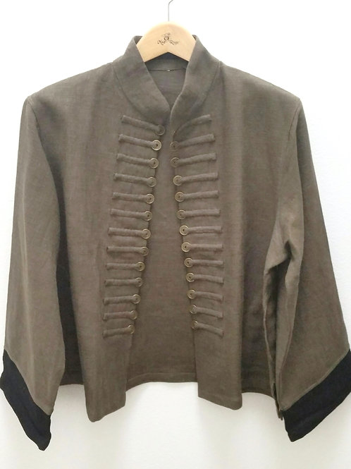 Thai Style Coin Jacket (Olive)