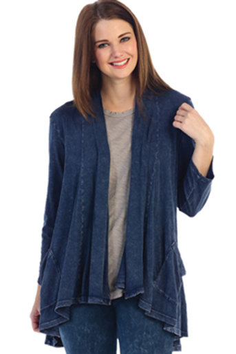 Mineral Washed Cardigan