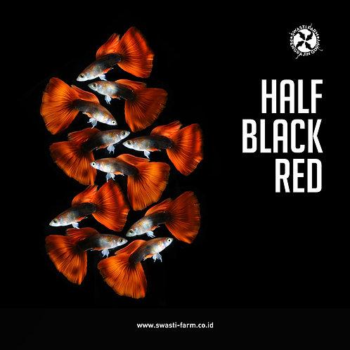 HALF BLACK RED