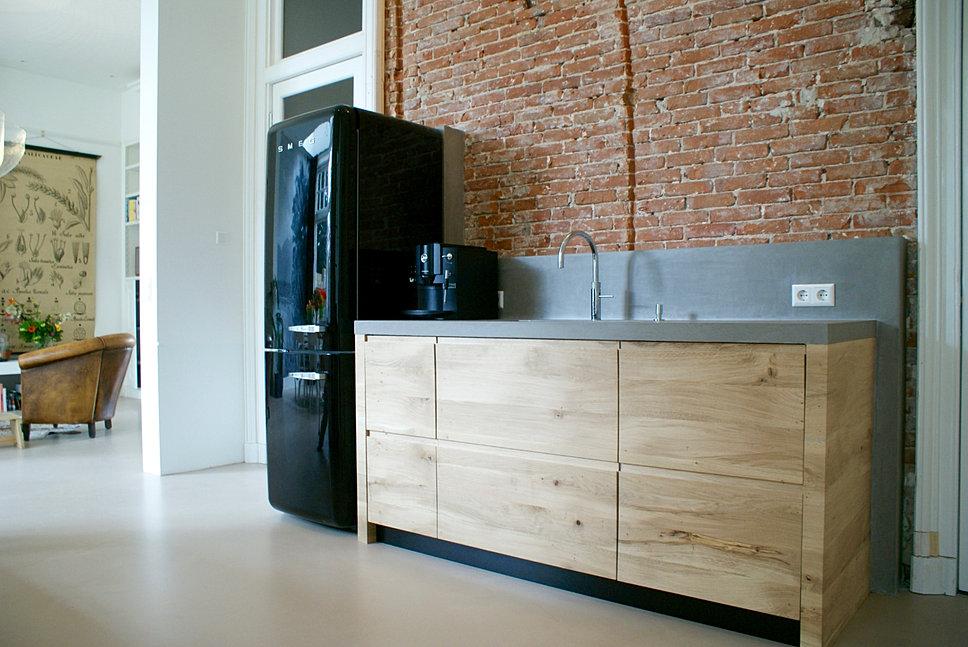 Kast Voor In De Keuken Open Kast Met En Planken Van Betonnbsp With