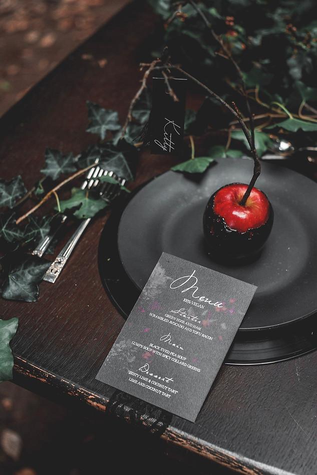 Dark Bridal styled shoot
