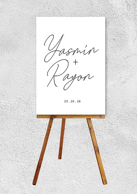Yasmin Wedding Signage