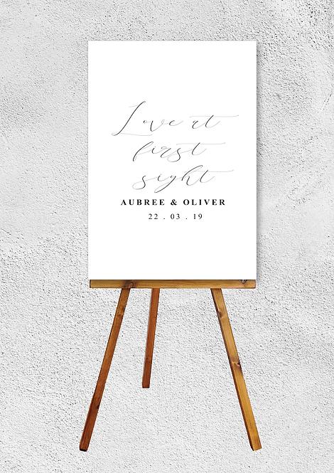 Aubree Wedding Signage