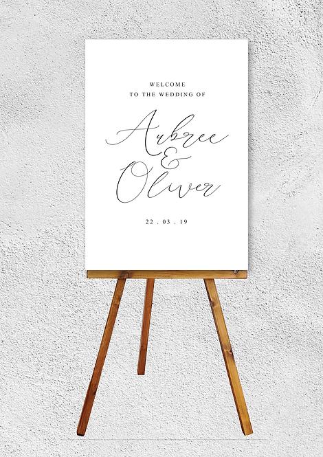 Aubrey Welcome Signage