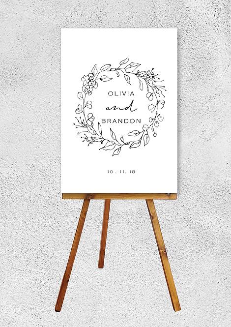 Avery Wreath Wedding Signage