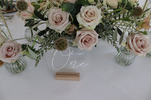 Perspex Acrylic Wedding Table Numbers