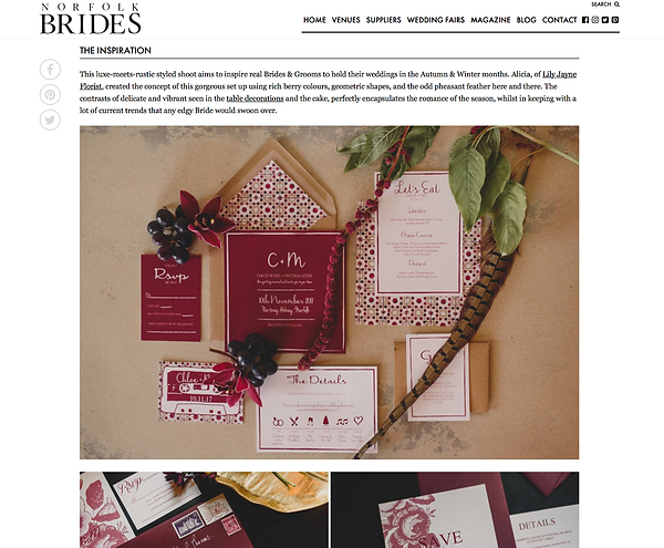 Wedding stationery. Styled Photo Shoot. Photographer - Georgia Rachael Photography