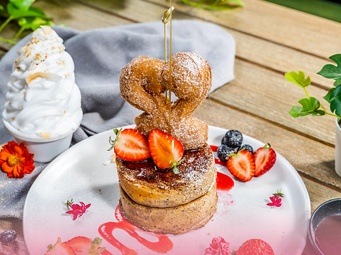 Buckwheat Pancake & Churros Plate (gf & vegan)