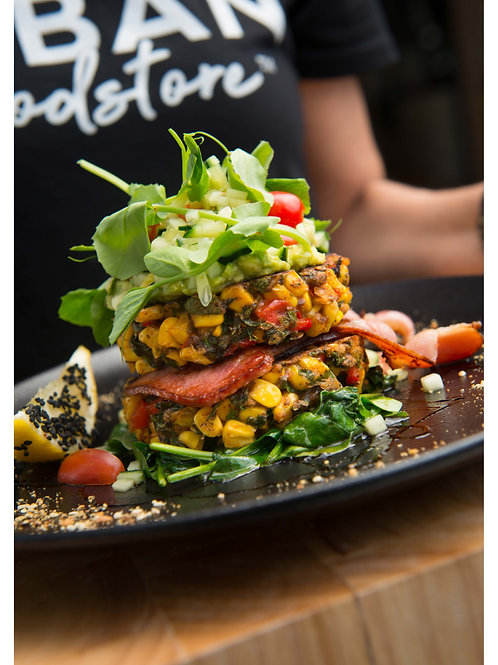 Corn Fritter Stack