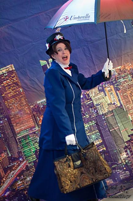 Mary Poppins (with an Umbrella Factory Umbrella)