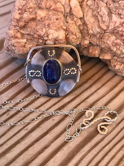 Lapis Lazuli Horseshoe Infinity Pendant Necklace