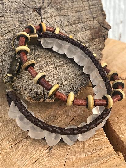 Crystal Horn Stack Bracelets