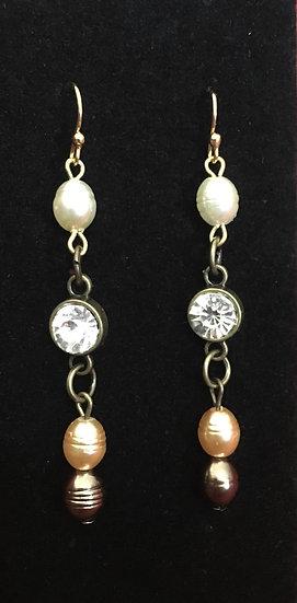 Glass & Gold Earrings