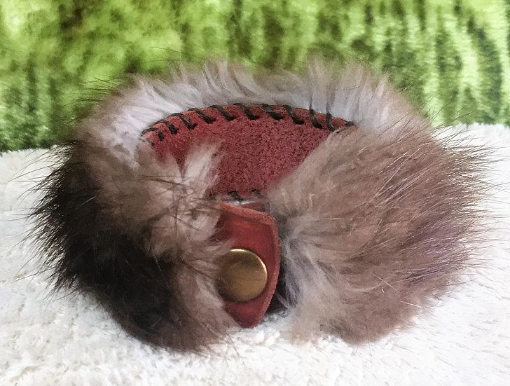 Beaver Fur Cuff Bracelet