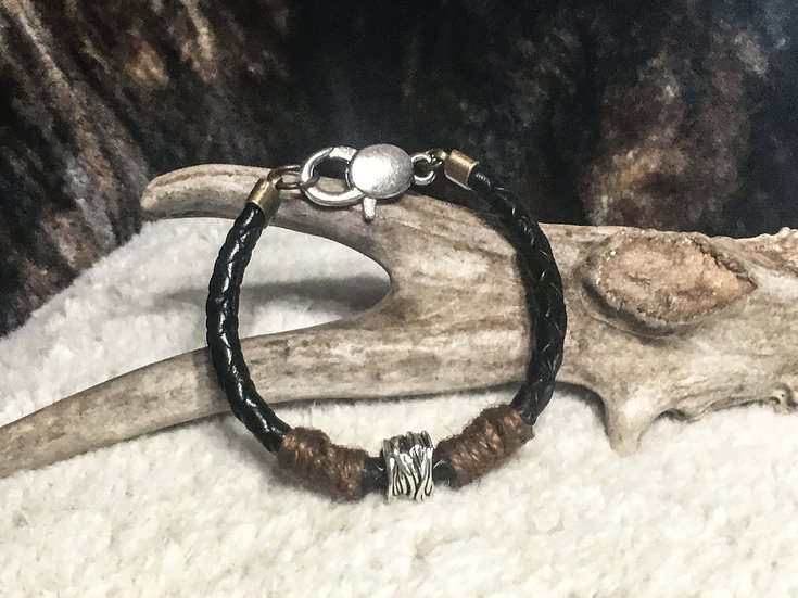 Leather & Hemp Bracelet