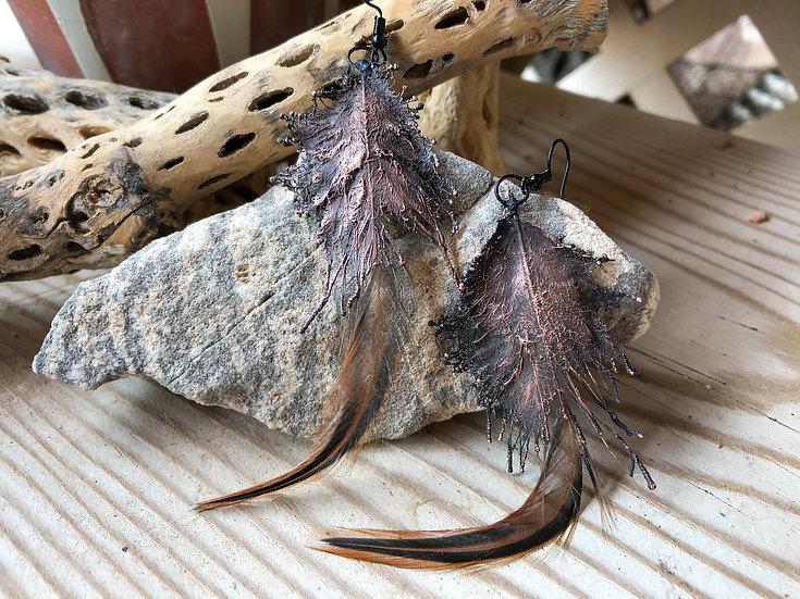 Mille Fleur d'Uccle Dark Copper Earrings