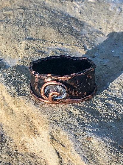 Copper & Glass Stone Ring