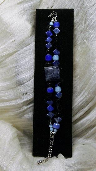 Lapis Lazuli and Horn Bracelet