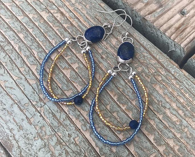 Lapis Lazuli Cabochon Earrings