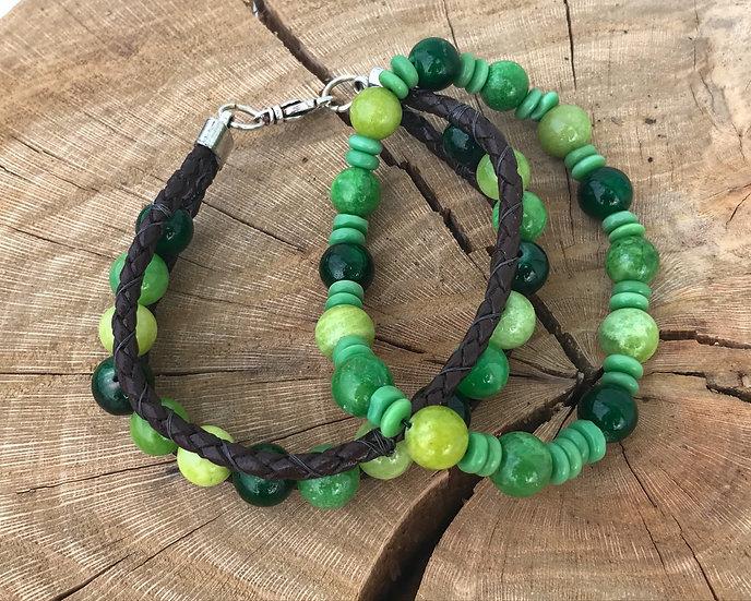 Quartzite Stack Bracelets
