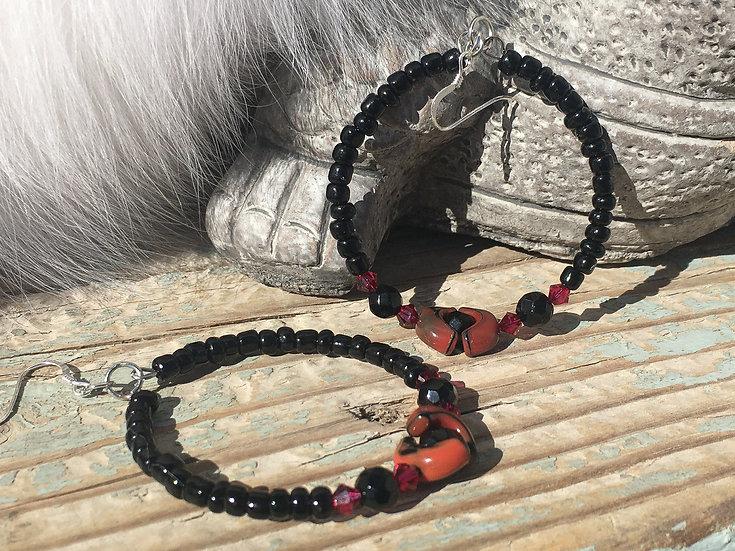 Rubi Swarovski Crystals & Black Glass