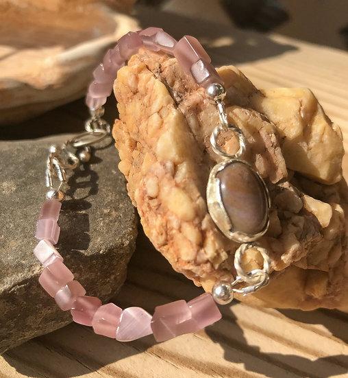 Jasper Cat Eye Bracelet