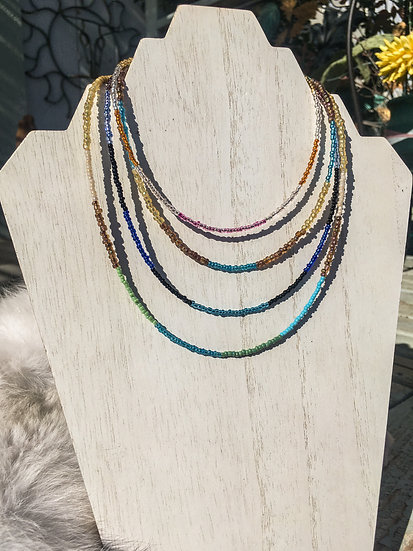 Layered Seed Bead Necklace