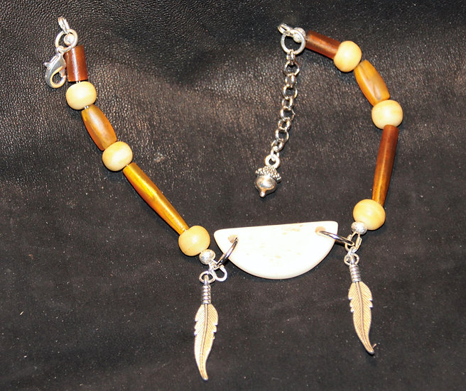 Bone Half-Moon Anklet