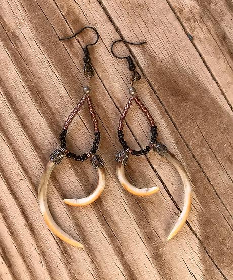 Muskrat Teeth Earrings