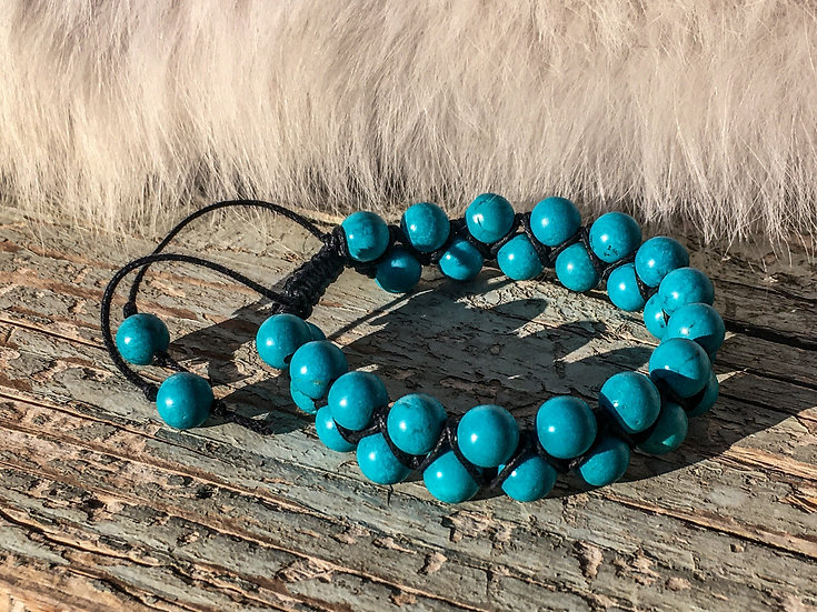 """Turquoise """"Shamballa"""" Bracelet"""