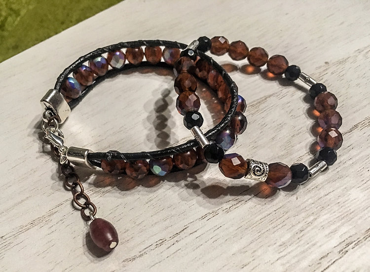 Czech Glass Bracelet Set