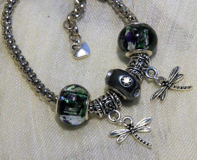 Dragonfly Snake Chain Bracelet