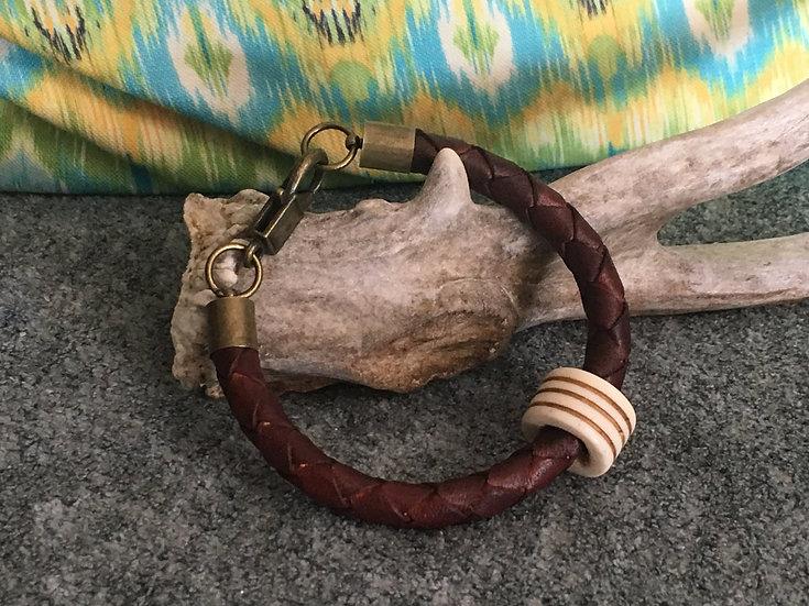 Mahogany Leather Bracelet