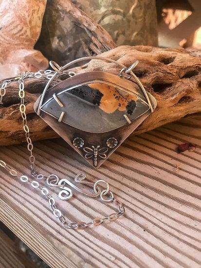 Maligano Jasper Sterling Silver Pendant Necklace