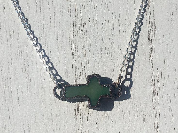 Jade Cross Choker